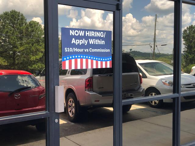 FILE PHOTO: An exterior view of a Politicause office in a strip mall in Pelham, Alabama, U.S., August 6, 2019. REUTERS/Joseph Tanfani