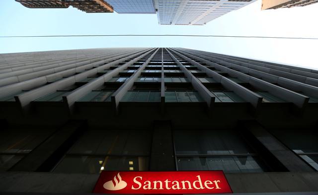 FILE PHOTO: A Santander logo is seen in Rio de Janeiro, Brazil, September 6, 2017.   REUTERS/Sergio