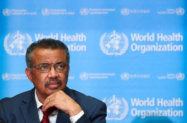 FILE PHOTO: Director-General of the World Health Organization (WHO) Tedros Adhanom Ghebreyesus attends a news conference on the novel coronavirus (2019-nCoV) in Geneva, Switzerland February 6, 2020. REUTERS/Denis Balibouse/File Photo