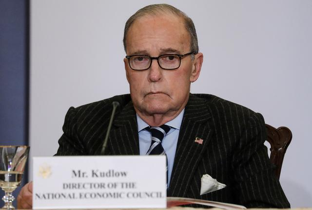 FILE PHOTO: White House economic adviser Larry Kudlow attends an event celebrating the anniversary of the White House's Women's Global Development and Prosperity (W-GDP) initiative at the State Department in Washington, U.S., February 12, 2020. REUTERS/Leah Millis