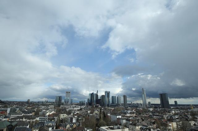 FILE PHOTO: The financial district with Germany's Deutsche Bank and Commerzbank is pictured in Frankfurt, Germany, March 18, 2019. REUTERS/Ralph Orlowski