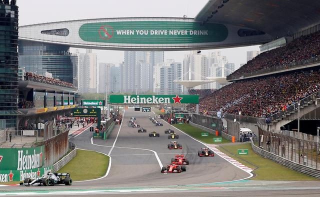 FILE PHOTO: Formula One F1 - Chinese Grand Prix - Shanghai International Circuit, Shanghai, China - April 14, 2019     General view during the warm up lap before the race     REUTERS/Aly Song/File Photo