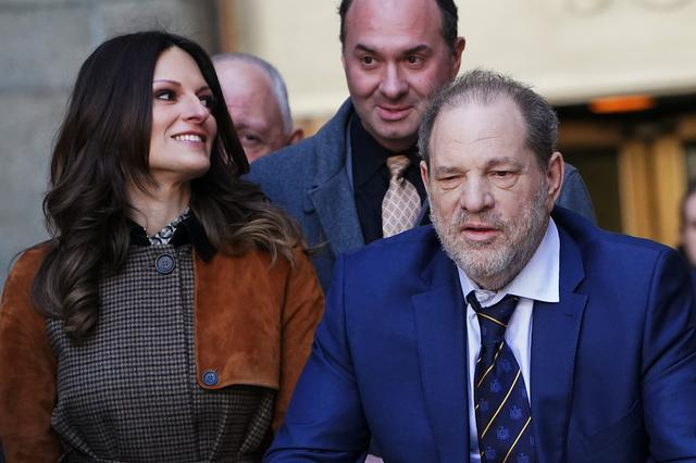 FILE PHOTO: Film producer Harvey Weinstein and lawyer Donna Rotunno depart New York Criminal Court during his ongoing sexual assault trial in the Manhattan borough of New York City, New York, U.S., February 14, 2020. REUTERS/Carlo Allegri