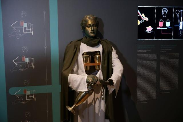 The automatic servant of Philon from the 3rd century BC, is seen at Kotsanas Museum of Ancient Greek Technology in Athens, Greece February 13, 2020. Picture taken February 13, 2020. REUTERS/Costas Baltas