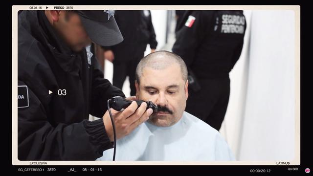 """A man believed to be Mexican drug lord Joaquin """"El Chapo"""" Guzman, is pictured in what is believed to be the Altiplano prison in 2016, in this still image taken from a video supplied by news site Latinus on February 18, 2020. LATINUS/via REUTERS"""