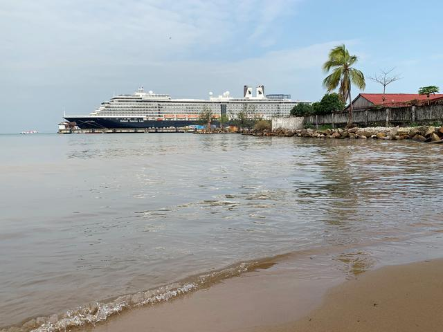 The MS Westerdam cruise ship is docked at the pier in Sihanoukville, Cambodia February 19, 2020. REUTERS/Clare Baldwin