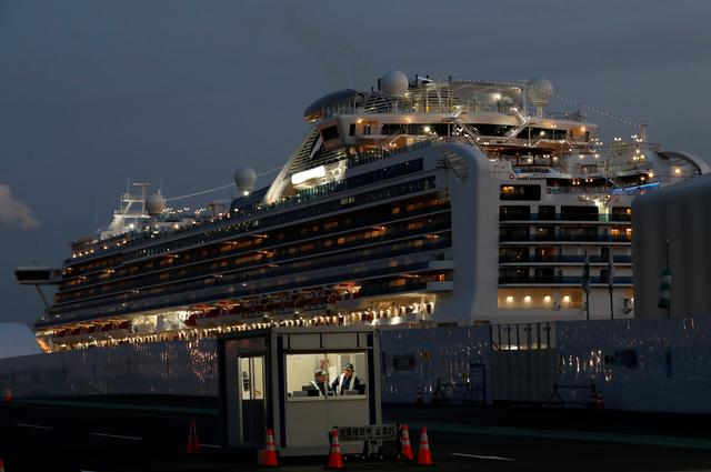 The Diamond Princess cruise ship lies docked at the Daikoku Pier Cruise Terminal in Yokohama, south of Tokyo, Japan February 19, 2020. REUTERS/Kim Kyung-hoon