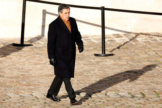 FILE PHOTO: Former French Prime Minister Francois Fillon arrives to attend a ceremony for the thirteen French soldiers killed in Mali, during a ceremony at the Hotel National des Invalides in Paris, France, December 2, 2019.   REUTERS/Charles Platiau