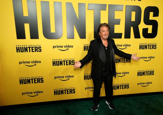 """Cast member Al Pacino poses at a premiere for the television series """"Hunters"""" in Los Angeles, California, U.S., February 19, 2020. REUTERS/Mario Anzuoni"""