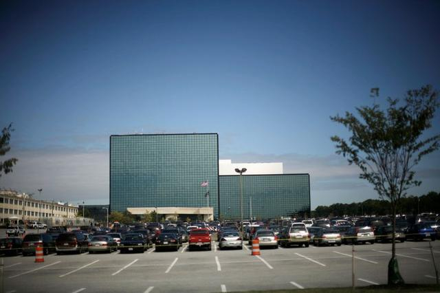FILE PHOTO: A building at Fort Meade, Maryland, where the Defense Information Systems Agency is headquartered, September 19, 2007. REUTERS/Jason Reed/File Photo