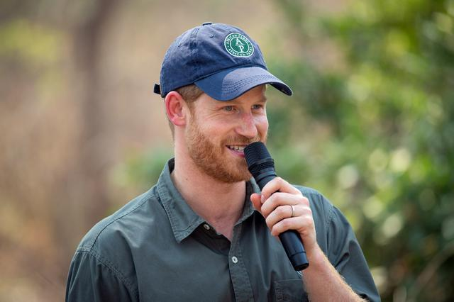 FILE PHOTO: Britain's Prince Harry, Duke of Sussex, makes a speech during an event dedicating the Liwonde National Park and Mangochi Forest to the Queen's Commonwealth Canopy conservation initiative at Liwonde National Park, Malawi, September 30, 2019. REUTERS/Dominic Lipinski/Pool/File Photo
