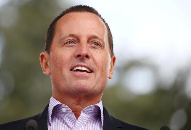 "FILE PHOTO: Richard Grenell, U.S. ambassador to Germany, attends the ""Rally for Equal Rights at the United Nations (Protesting Anti-Israeli Bias)"" aside of the Human Rights Council at the United Nations in Geneva, Switzerland, March 18, 2019.  REUTERS/Denis Balibouse/File Photo"
