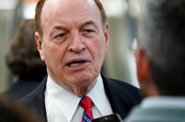 FILE PHOTO: Senator Richard Shelby (R-AL) speaks to reporters after a vote attempting to override U.S. President Donald Trump's veto of the resolution demanding an end to support of Saudi Arabia's war in Yemen failed on Capitol Hill in Washington, U.S., May 2, 2019.      REUTERS/Joshua Roberts
