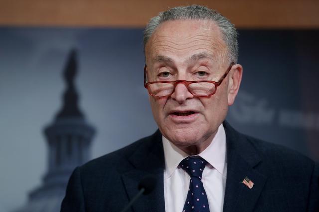 U.S. Senate Minority Leader Chuck Schumer, Washington, February 13, 2020.  REUTERS/Jonathan Ernst -