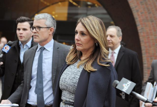Michelle Janavs, whose family's company developed the microwavable snack Hot Pockets, leaves the federal courthouse after being sentenced in connection with a nationwide college admissions cheating scheme in Boston, Massachusetts, U.S., February 25, 2020. REUTERS/Amanda Sabga