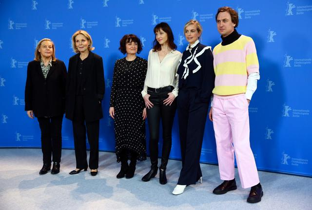 "Directors Stephanie Chuat and Veronique Reymond and actors Nina Hoss, Lars Eidinger and Marthe Keller attend a photo call to promote the movie ""My Little Sister"" during the 70th Berlinale International Film Festival in Berlin, Germany, February 24, 2020. REUTERS/ Christian Mang"