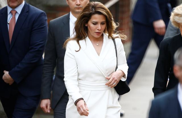 Princess Haya bint Al Hussein, the wife of Dubai's Sheikh Mohammed bin Rashid Al Maktoum, arrives at the High Court in London, Britain February 26, 2020. REUTERS/Henry Nicholls