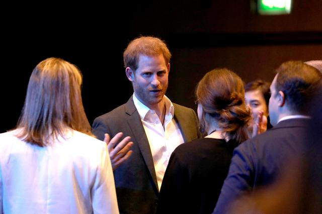 Britain's Prince Harry speaks during a sustainable tourism summit at the Edinburgh International Conference Centre in Edinburgh, Scotland Britain February 26, 2020.   Andrew Milligan/Pool via REUTERS