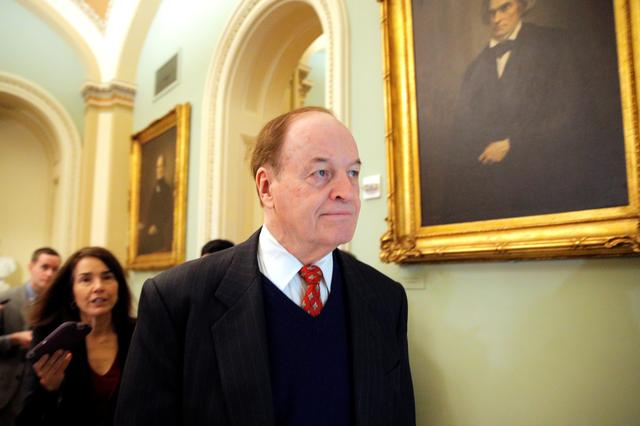 FILE PHOTO: Senator Richard Shelby (R-AL) arrives for the resumption of the Senate impeachment trial of U.S. President Donald Trump at the U.S. Capitol in Washington, U.S., January 31, 2020. REUTERS/Brendan McDermid?