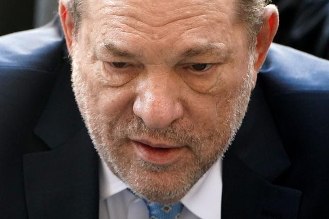 FILE PHOTO: Film producer Harvey Weinstein arrives at the New York Criminal Court during his ongoing sexual assault trial in the Manhattan borough of New York City, New York, U.S., February 24, 2020. REUTERS/Carlo Allegri