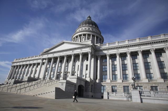 FILE PHOTO: The Utah state capitol is pictured on the first day of the legislative session in Salt Lake City, Utah, January 27, 2014. REUTERS/Jim Urquhart