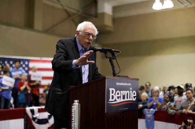 Democratic 2020 U.S. presidential candidate Senator Bernie Sanders speaks during a rally in North Charleston, South Carolina, U.S. February 26, 2020. REUTERS/Jonathan Ernst