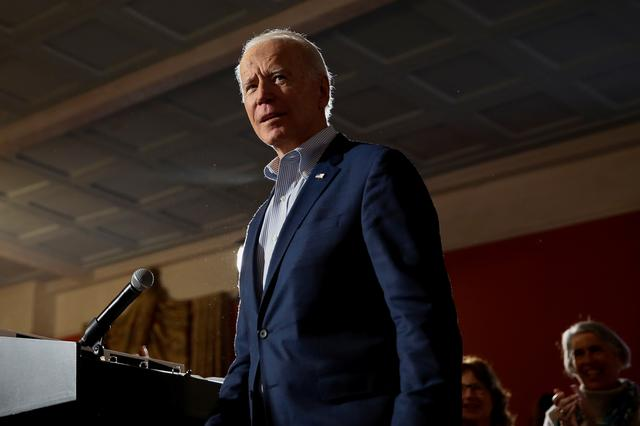 Democratic U.S. presidential candidate and former U.S. Vice President Joe Biden makes his way to the microphone at the start of a campaign event in Georgetown, South Carolina, U.S., February 26, 2020.  REUTERS/Elizabeth Frantz
