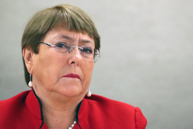United Nations High Commissioner for Human Rights Michelle Bachelet attends a session of the Human Rights Council at the United Nations in Geneva, Switzerland, February 24, 2020. REUTERS/Denis Balibouse