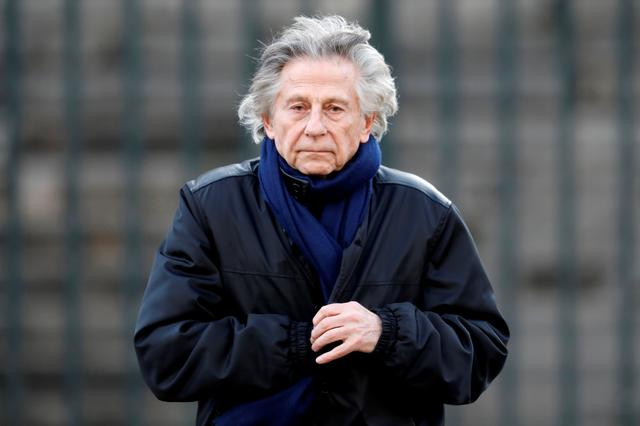 FILE PHOTO: Film director Roman Polanski arrives at the Madeleine Church to attend a ceremony during a 'popular tribute' to late French singer and actor Johnny Hallyday in Paris, France, December 9, 2017.  REUTERS/Charles Platiau/File Photo