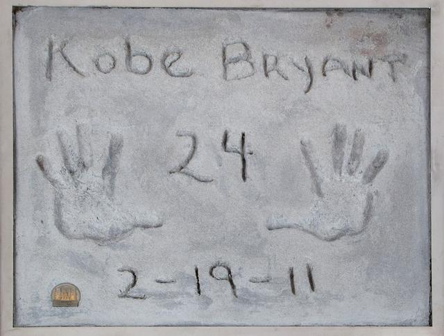 Test prints of Kobe Bryant's hands, made in 2011 when the late basketball player became the first athlete to leave his prints in cement outside Grauman's Chinese Theatre in Hollywood, are pictured in an undated photo before going up for auction Beverly Hills, California, U.S. released February 27, 2020. Courtesy of Julien's Auction/Handout via REUTERS