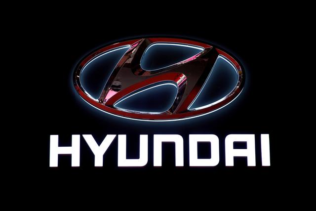 FILE PHOTO: The logo of Hyundai Motor is pictured at the second media day for the Shanghai auto show in Shanghai, China April 17, 2019.  REUTERS/Aly Song