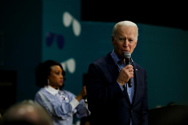 FILE PHOTO - Democratic U.S. presidential candidate and former U.S. Vice President Joe Biden speaks during a campaign event at Coastal Carolina University in Conway, South Carolina, U.S., February 27, 2020.  REUTERS/Elizabeth Frantz