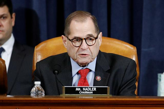 FILE PHOTO - House Judiciary Committee Charman Rep. Jerrold Nadler, D-N.Y., votes to approve the second article of impeachment against President Donald Trump during a House Judiciary Committee meeting on Capitol Hill, in Washington, U.S., December 13, 2019. Patrick Semansky/Pool via REUTERS