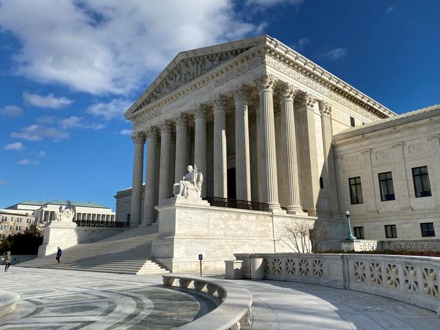 FILE PHOTO: The buliding of the U.S. Supreme Court is pictured in Washington, D.C., U.S., January 19, 2020. Picture taken January 19, 2020. REUTERS/Will Dunham
