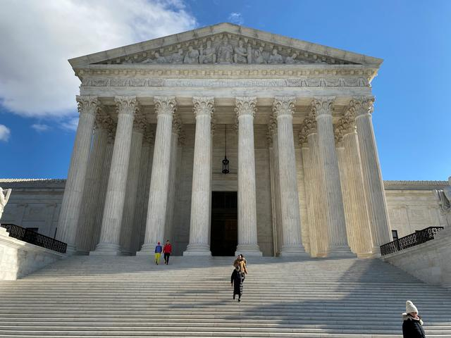 FILE PHOTO: The building of the U.S. Supreme Court is pictured in Washington, D.C., U.S., January 19, 2020. REUTERS/Will Dunham/File Photo