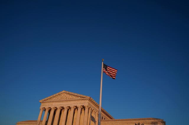 FILE PHOTO: The Supreme Court building exterior seen in Washington, U.S., January 21, 2020. REUTERS/Sarah Silbiger