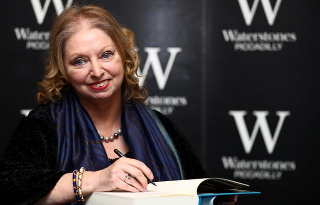 "Author Hilary Mantel attends a book signing for her new novel ""The Mirror and the Light"" at a book store in London, Britain, March 4, 2020. REUTERS/Hannah McKay"