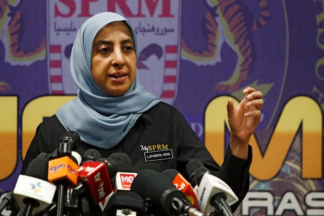 FILE PHOTO: Malaysian Anti-Corruption Commission (MACC) Chief Commissioner Latheefa Koya speaks during a news conference in Putrajaya, Malaysia June 21, 2019. REUTERS/Lai Seng Sin