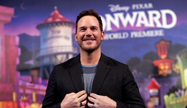 "FILE PHOTO: Cast member Chris Pratt poses at the premiere for the film ""Onward"" in Los Angeles, California, U.S. February 18, 2020. REUTERS/Mario Anzuoni"