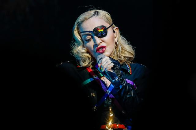 FILE PHOTO: Madonna performs at the 2019 Pride Island concert during New York City Pride in New York City, New York, U.S., June 30, 2019. REUTERS/Jeenah Moon
