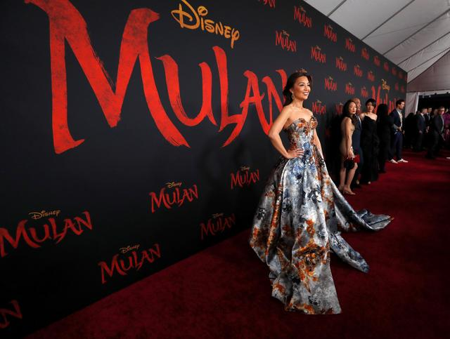 "FILE PHOTO: Actor Ming-Na Wen pose at the premiere for the film ""Mulan"" in Los Angeles, California, U.S., March 9, 2020. REUTERS/Mario Anzuoni"
