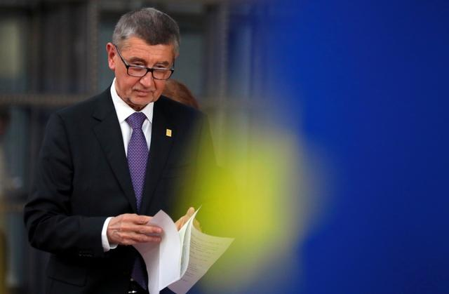 FILE PHOTO: Czech Republic's Prime Minister Andrej Babis arrives for the European Union leaders summit in Brussels, Belgium, February 20, 2020. REUTERS/Reinhard Krause