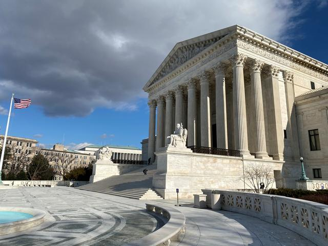 FILE PHOTO: The U.S. Supreme Court building is seen in Washington, U.S., January 21, 2020.  REUTERS/Will Dunham/File Photo