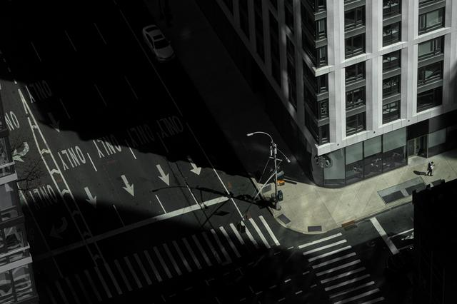 Empty street is seen in Manhattan borough following the outbreak of coronavirus disease (COVID-19), in New York City, U.S., Mar 15, 2020. REUTERS/Jeenah Moon