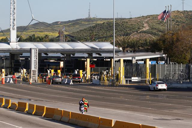 A general view shows an almost empty Mexico-U.S. San Ysidro border crossing after the U.S. and Mexico have agreed to restrict non-essential travel over their shared border to limit the spread of coronavirus disease (COVID-19), in Tijuana, Mexico March 21, 2020. REUTERS/Jorge Duenes