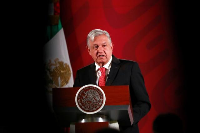 FILE PHOTO: Mexico's President Andres Manuel Lopez Obrador holds a news conference at the National Palace in Mexico City, Mexico, March 17, 2020. REUTERS/Henry Romero