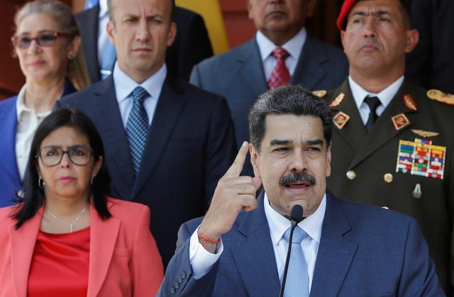 FILE PHOTO: Venezuela's President Nicolas Maduro speaks during a news conference at Miraflores Palace in Caracas, Venezuela, March 12, 2020. REUTERS/Manaure Quintero