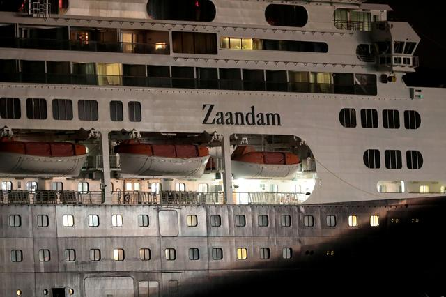 FILE PHOTO: The cruise ship MS Zaandam, where passengers have died on board, navigates through the pacific side of the Panama Canal, in Panama City, Panama, as the coronavirus disease (COVID-19) outbreak continues, March 29, 2020. REUTERS/Erick Marciscan/File Photo