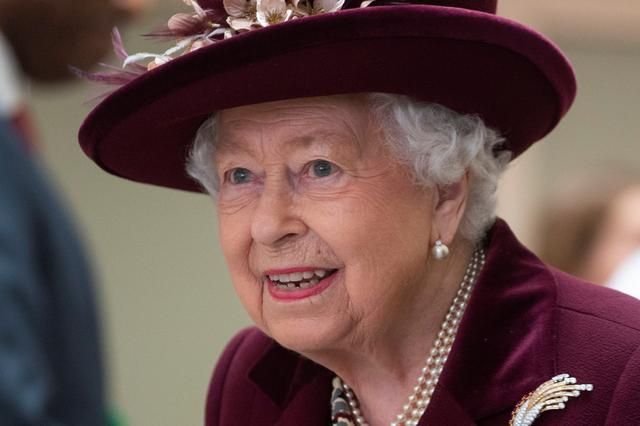 FILE PHOTO: Britain's Queen Elizabeth II visits the headquarters of MI5, which is the United Kingdom's domestic counter-intelligence and security agency, at Thames House in London, Britain February 25, 2020. Victoria Jones/PA Wire/Pool via REUTERS