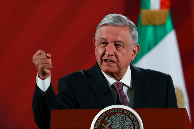 FILE PHOTO: Mexico's President Andres Manuel Lopez Obrador speaks during a news conference at the National Palace in Mexico City, Mexico, March 9, 2020. REUTERS/Henry Romero